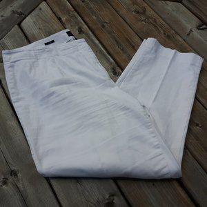 Talbots Heritage White Ankle Pants Size 16w